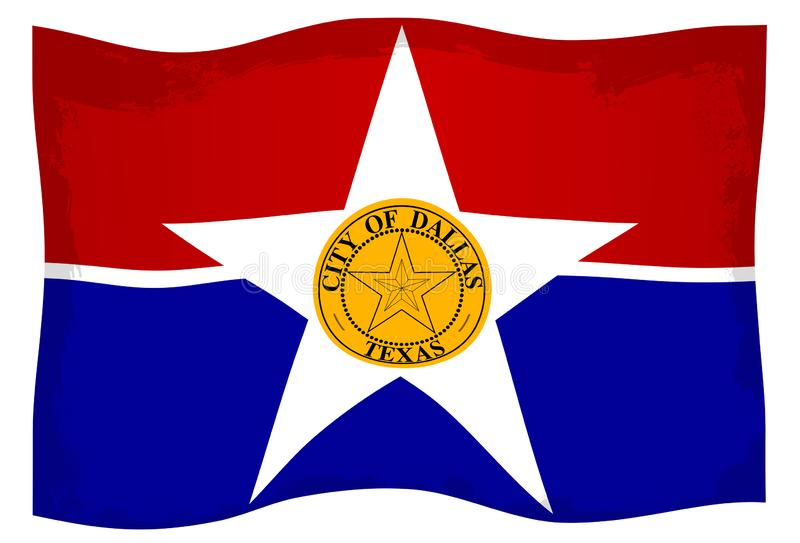Dallas City Flag stock abbildung