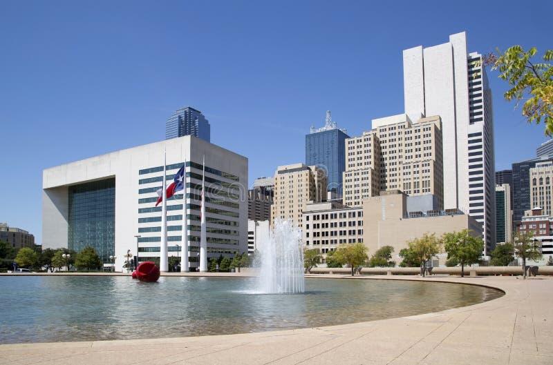 Download Dallas city hall stock image. Image of urban, skyscrapers - 59448969