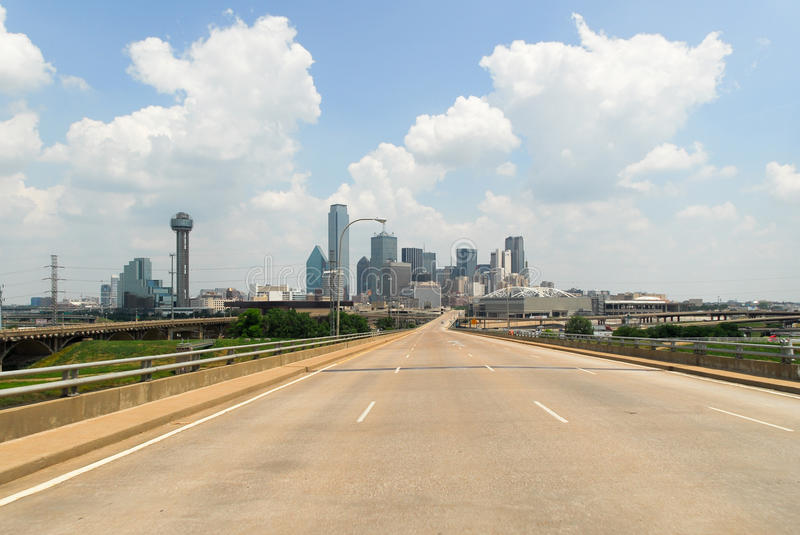 Dallas City Highway photographie stock libre de droits