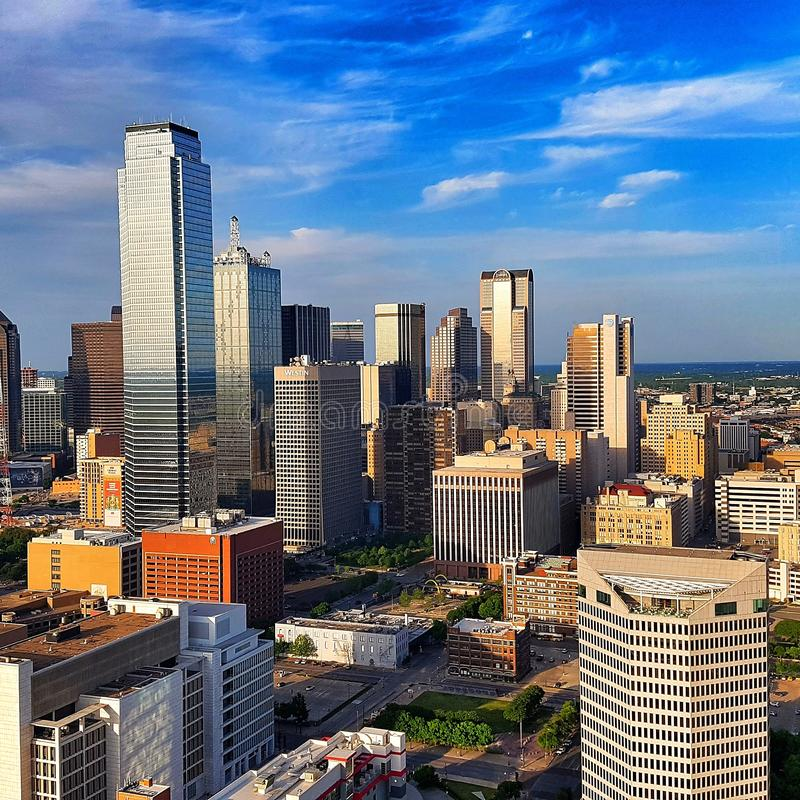 Dallas cityscape from Reunion tower royalty free stock photo