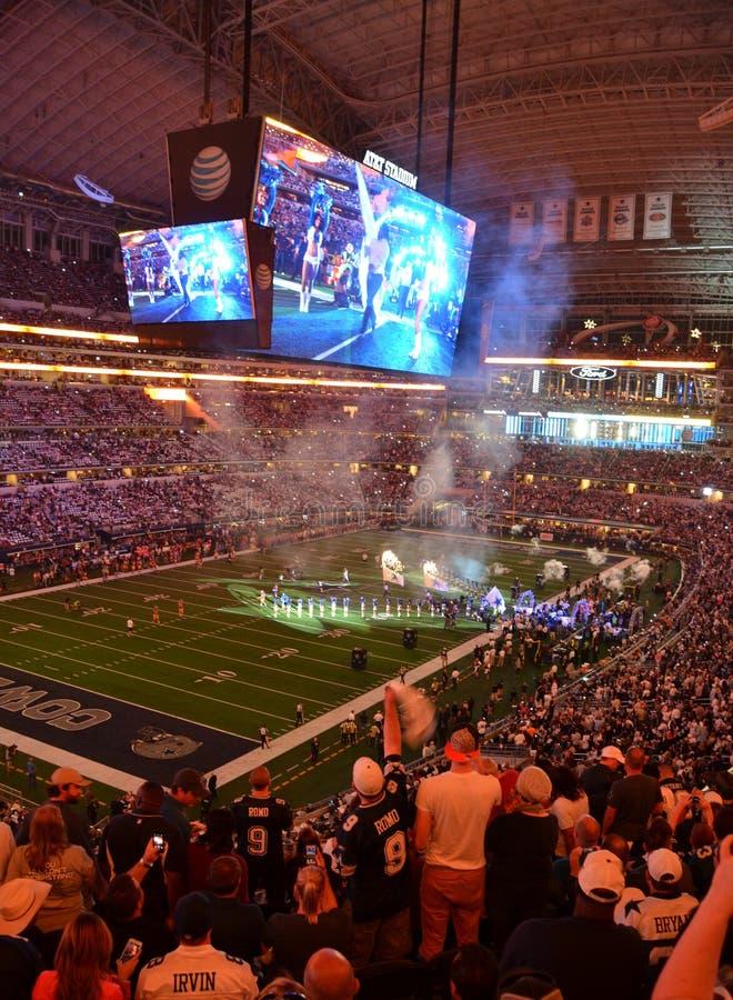Dallas Cowboy Game allo stadio di AT&T immagine stock libera da diritti