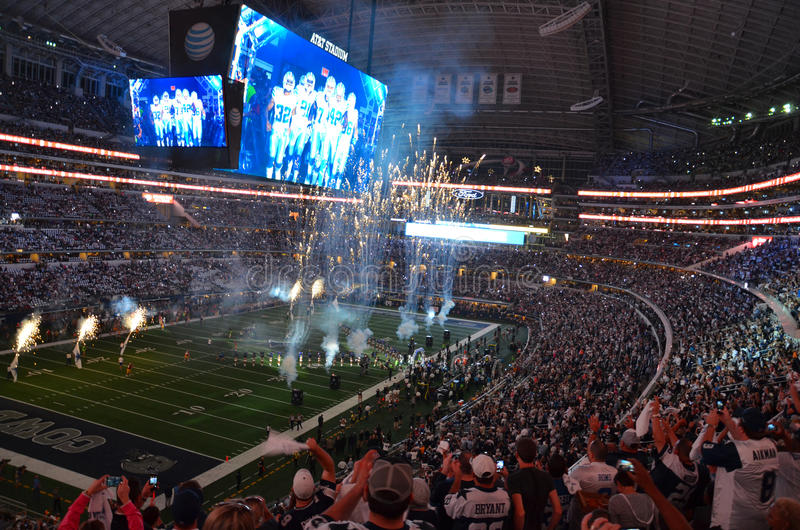 Dallas Cowboy Game bij AT&T-Stadion stock foto's