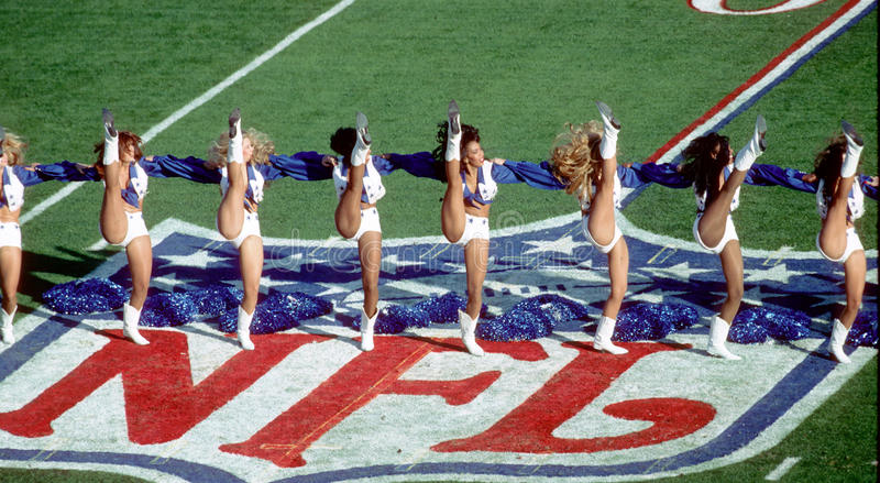 Dallas Cowboys Cheerleaders royalty-vrije stock foto