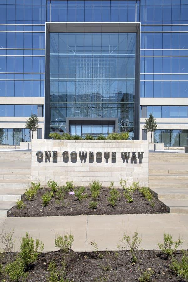 Dallas Cowboys-de bouw van het hoofdkwartierbureau stock foto's