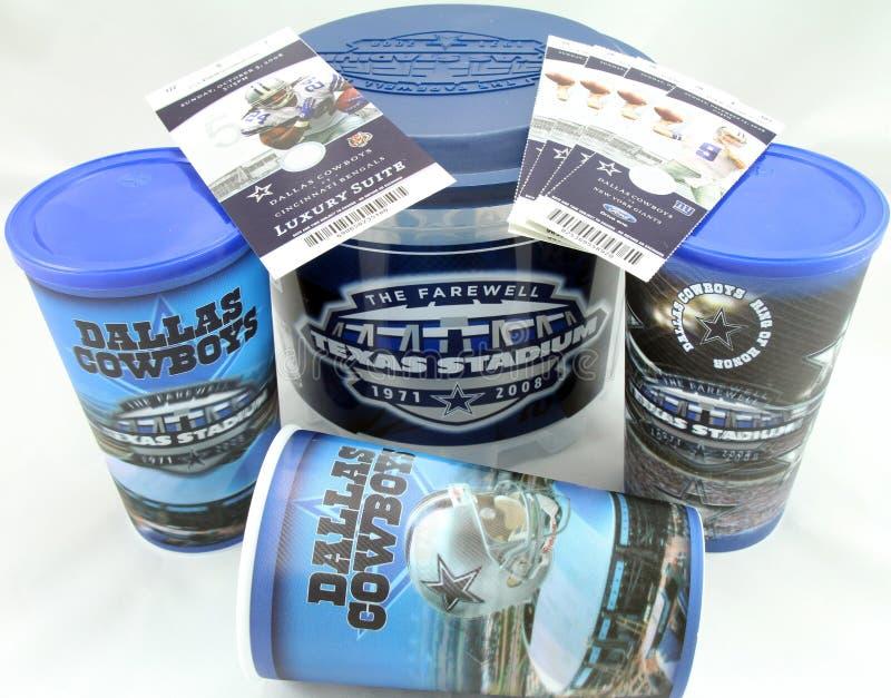 Dallas Cowboys Memorabilia imagens de stock royalty free