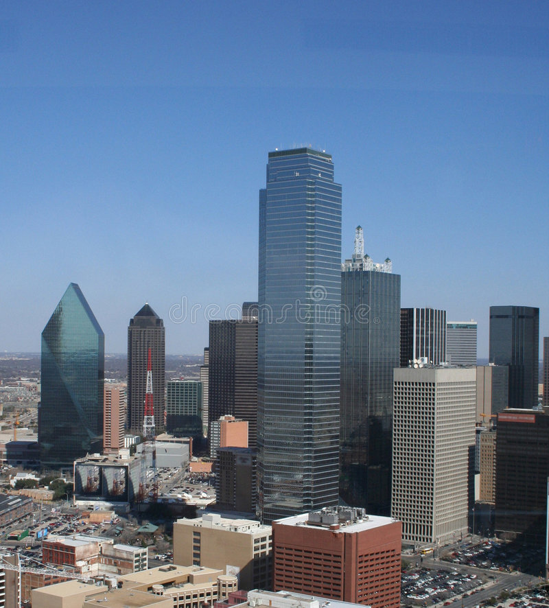 Dallas da baixa - vista aérea foto de stock royalty free