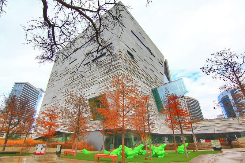 Dallas de stad in royalty-vrije stock fotografie