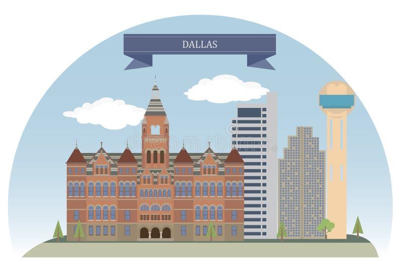 Dallas, de V.S. stock illustratie