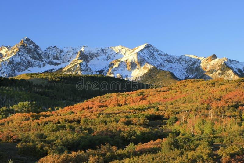 Dallas Divide, réserve forestière d'Uncompahgre, le Colorado photos libres de droits
