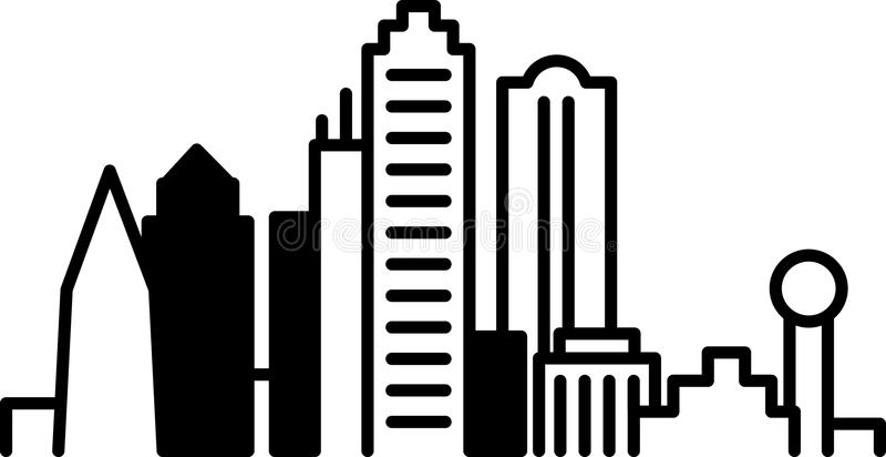 Dallas Downtown Icon stock illustratie
