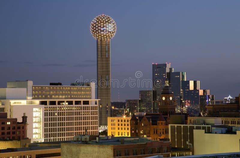 Dallas en la noche fotos de archivo libres de regalías