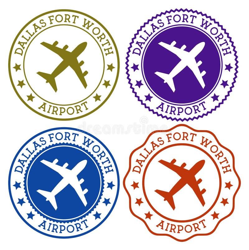 Dallas Fort Worth Airport Dallas-fort met een waarde van royalty-vrije illustratie