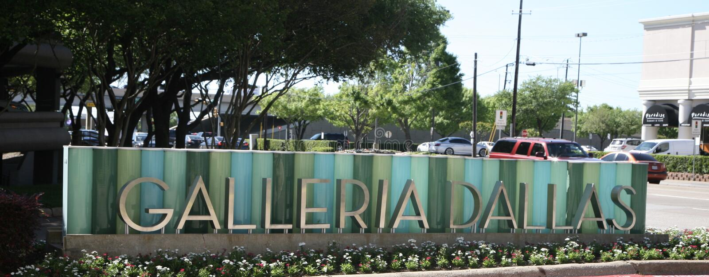 Dallas Galleria Sign stockfoto
