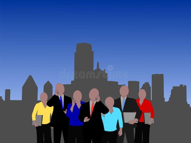 Dallas-Geschäftsteam lizenzfreie abbildung