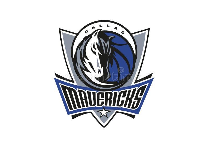Dallas Mavericks Logo vektor illustrationer