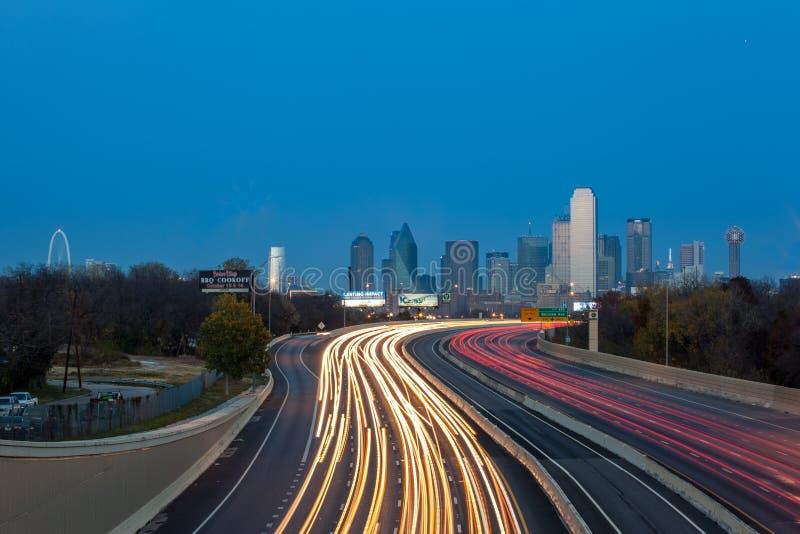 Dallas miasta linia horyzontu zdjęcie royalty free