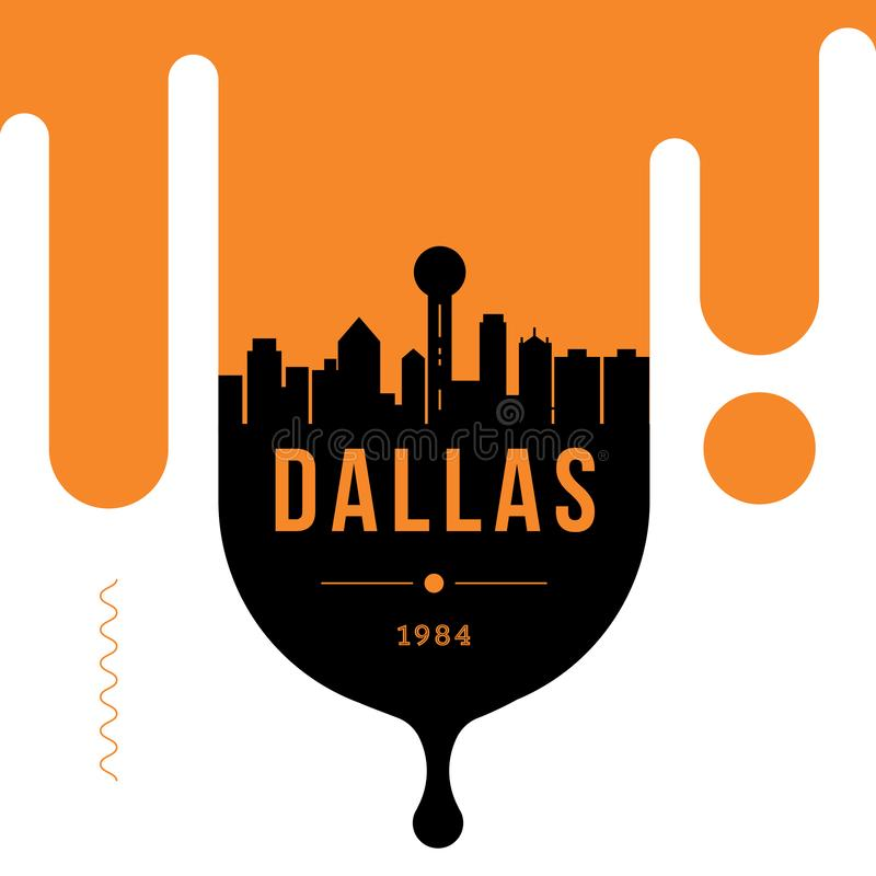 Dallas Modern Web Banner Design met Vectorhorizon stock illustratie