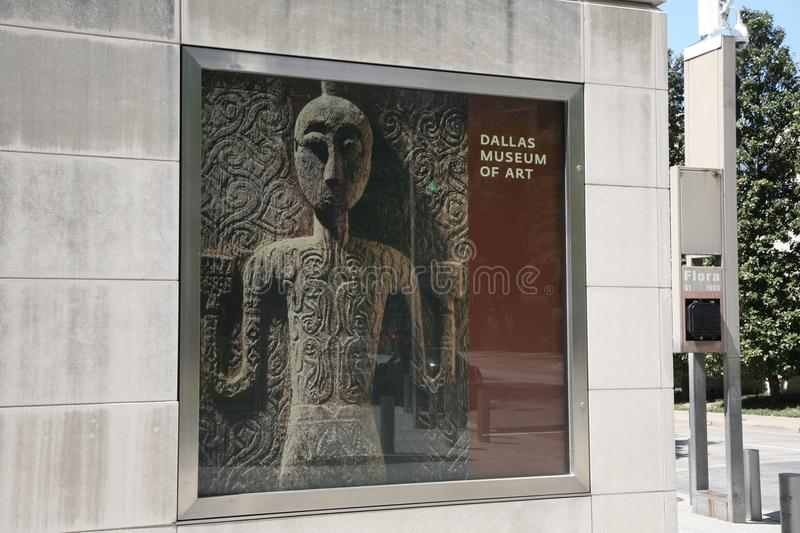 Download Dallas Museum Of Art Poster Editorial Stock Photo - Image of artist, loud: 90191638