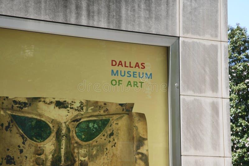 Dallas Museum di Art Sign fotografia stock libera da diritti
