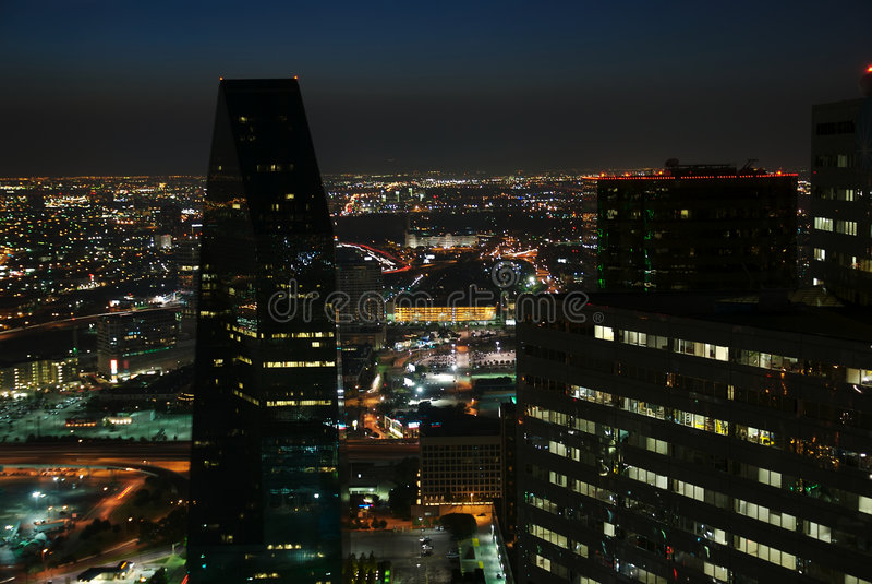 Dallas Nightscape lizenzfreie stockfotografie