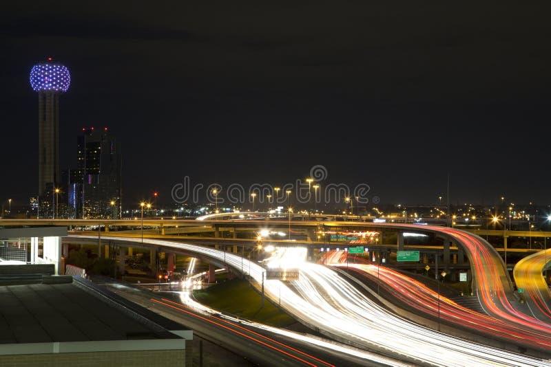 Dallas noc zdjęcia stock