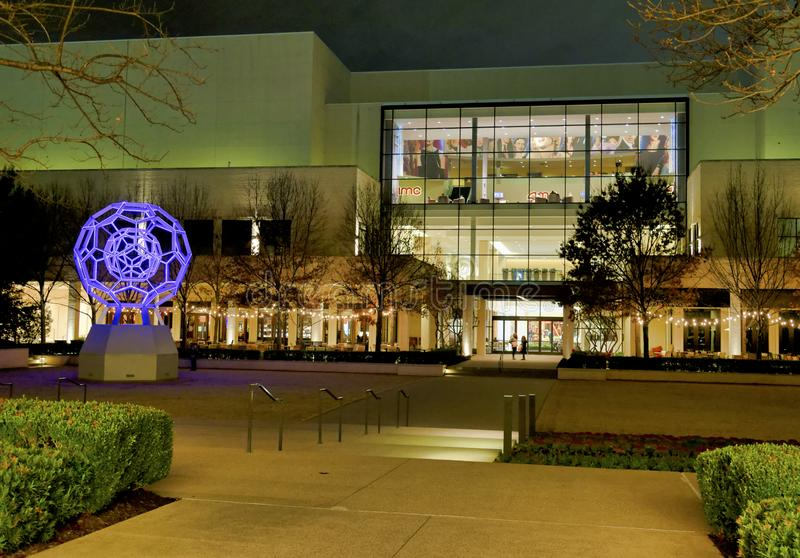 Dallas Northpark shopping centre at night stock photography