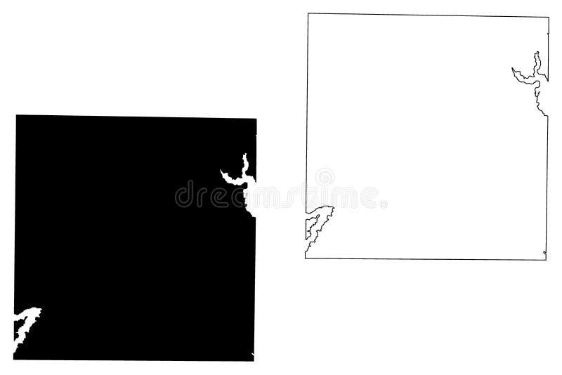 Dallas okręg administracyjny, Teksas okręgi administracyjni w Teksas, Stany Zjednoczone Ameryka, usa, U S , USA mapy wektorowa il royalty ilustracja