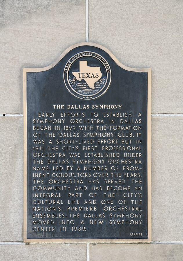 Dallas orkiestra symfoniczna obrazy royalty free