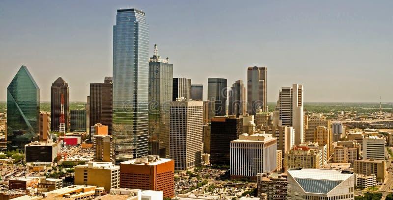 dallas panorama skyline texas 免版税库存图片