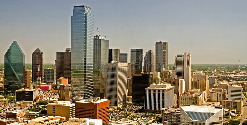 dallas panoramahorisont texas royaltyfri bild