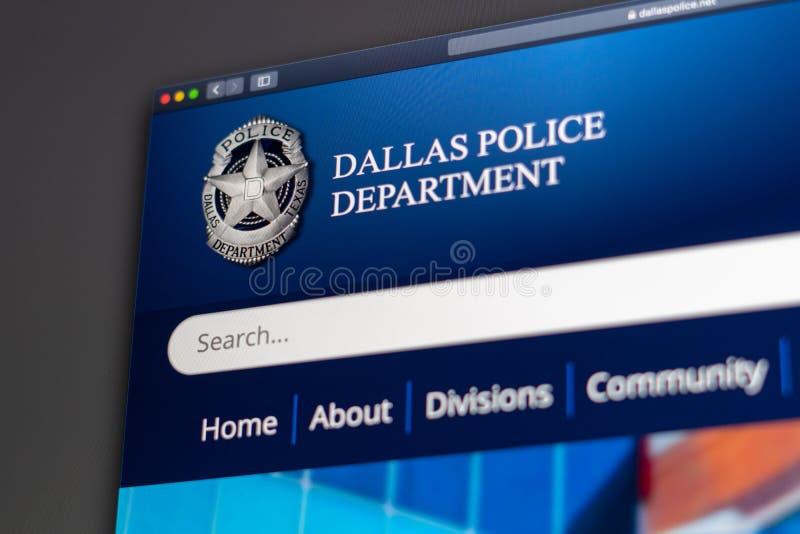 Dallas Police Department website homepage. Close up of Police Dept logo. Miami / USA - 05.11.2019: Dallas Police Department website homepage. Close up of Police stock photography