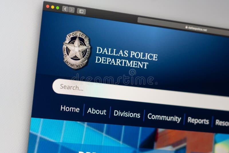 Dallas Police Department website homepage. Close up of Police Dept logo. Miami / USA - 05.11.2019: Dallas Police Department website homepage. Close up of Police royalty free stock photos