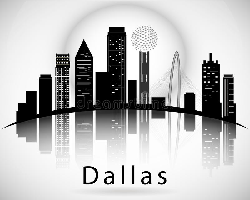 Dallas silhouette, Texas United States of America royalty free illustration