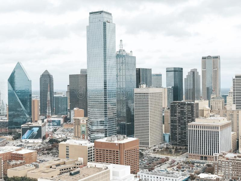 Dallas Skyline stockfoto