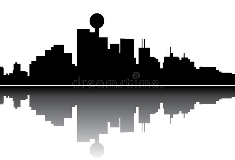 Dallas skyline royalty free illustration