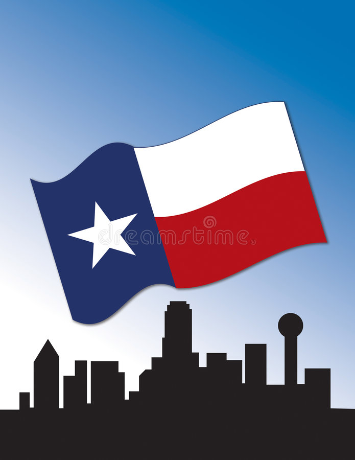 Dallas-Skyline vektor abbildung