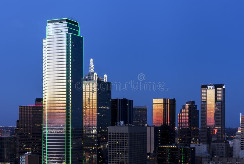 Dallas Skyline royaltyfri foto