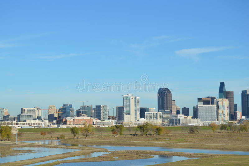 Dallas Skyline stock afbeeldingen