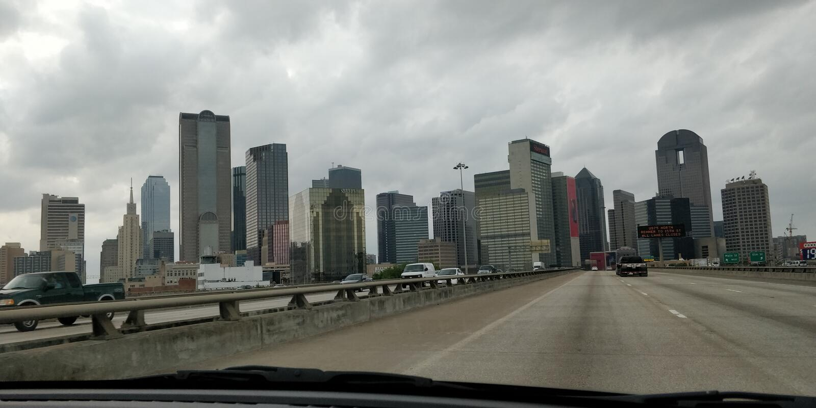 Dallas skyline during the day royalty free stock photography