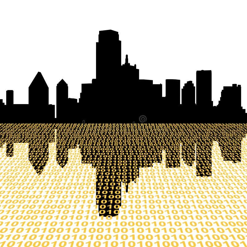 Dallas-Skyline mit Zweiheit lizenzfreie abbildung
