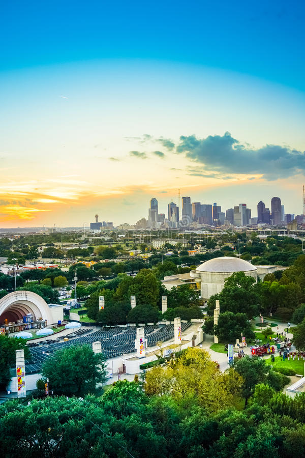 Dallas Skyline Sunset royalty free stock images