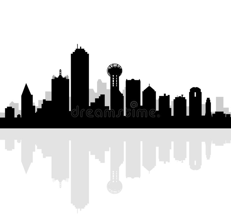 Dallas Skyline-Vector arkivfoton