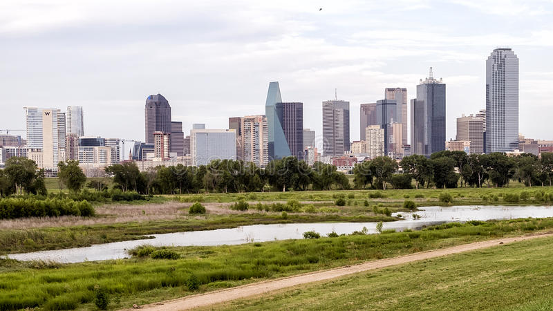 Dallas Skyline from the West stock photo