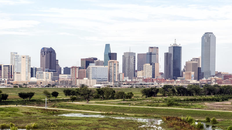 Dallas Skyline from the West stock image