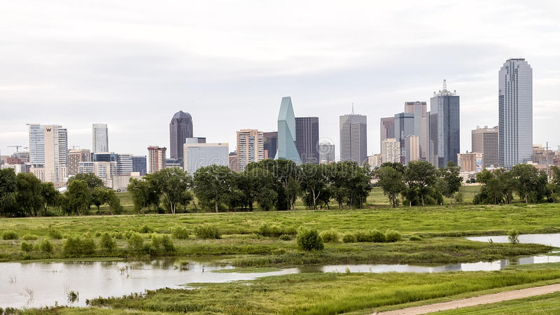 Dallas Skyline from the West stock images