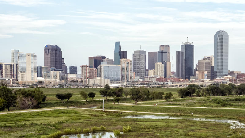 Dallas Skyline from the West stock photos