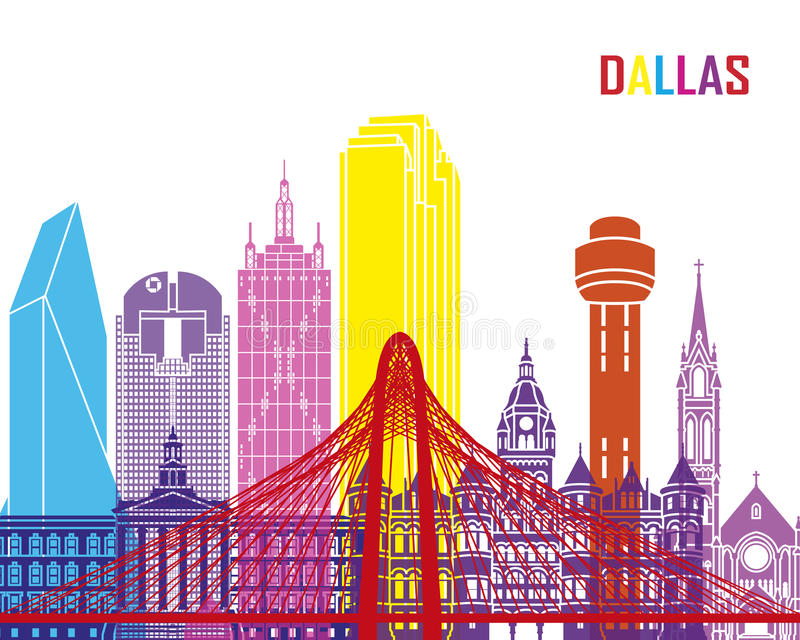 Dallas-Skylineknall stock abbildung