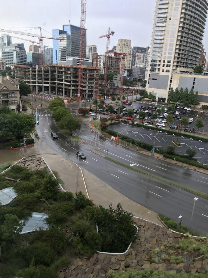 Dallas sous la pluie image libre de droits