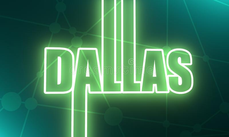 Dallas-Stadtname vektor abbildung
