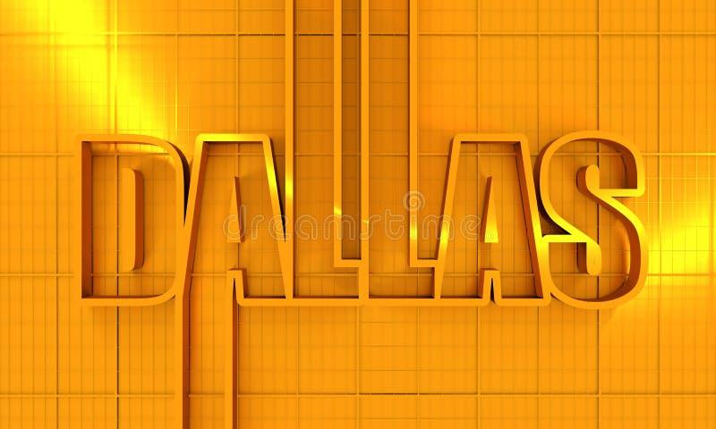 Dallas-Stadtname lizenzfreie abbildung